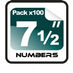 "7.5"" Race Numbers - 100 pack"
